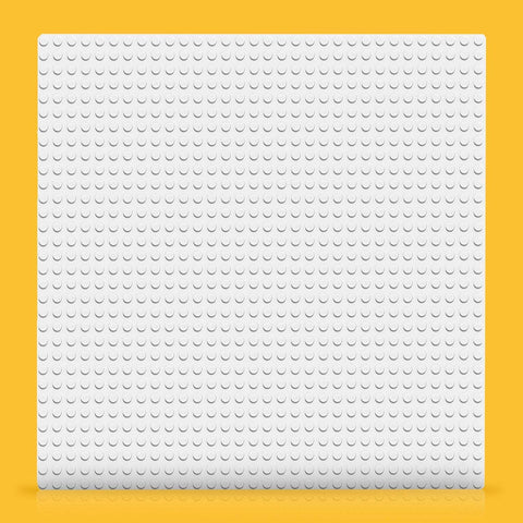 Classic White Baseplate 11010-3