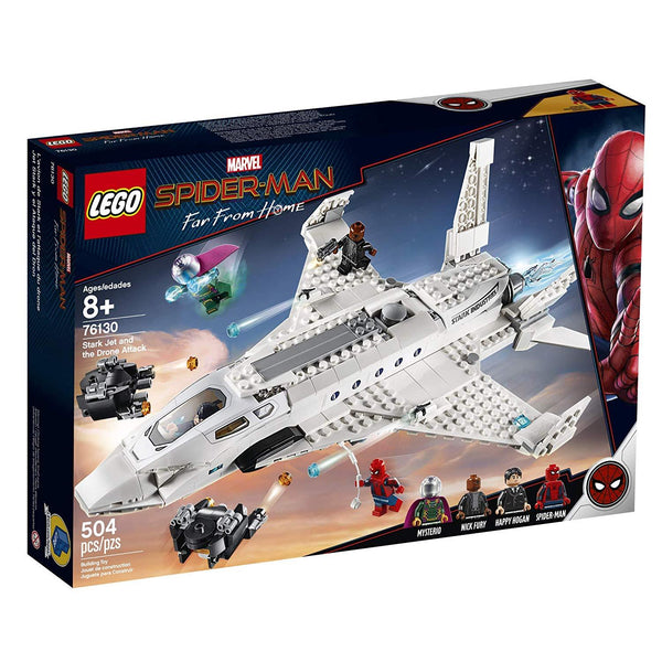 LEGO Marvel Spider-Man Far From Home: Stark Jet and the Drone Attack 76130 Building Kit, New 2019 brickskw bricks kw kuwait online store