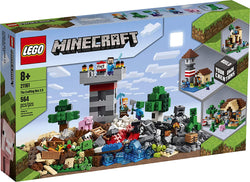 LEGO Minecraft The Crafting Box 3.0 21161 Minecraft Brick Construction Toy  and Minifigures, Castle and Farm Building Set, Great Gift for Minecraft Players Aged 8 and up, New 2020 (564 Pieces) brickskw bricks kw q8 kuwait onilne store bricksq8