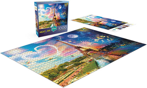 Buffalo Night & Day Paris Love 300 Large Piece Jigsaw Puzzle-3