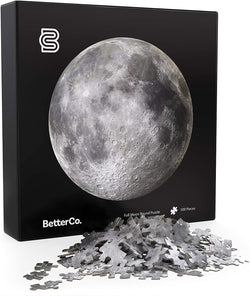 Full Moon Round Puzzle - BetterCo. Difficult Jigsaw Puzzles 500 Pieces - Challenge Yourself with 500 Piece Puzzles for Adults, Teens, and Kids brickskw bricks kw kuwait lego online store