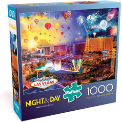 Buffalo Games - Night & Day Collection - Fabulous Las Vegas - 1000 Piece Jigsaw Puzzle brickskw bricks kw kuwait online lego