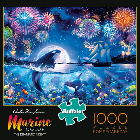 Buffalo Marine Color The Dramatic Night 1000 Piece Jigsaw Puzzle-4