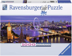 Ravensburger London at Night Panorama 1000 Piece Jigsaw Puzzle for Adults – Every Piece is Unique, Softclick Technology Means Pieces Fit Together Perfectly