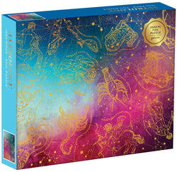 Galison Astrology 1000 Piece Jigsaw Puzzle for Adults, Foil Puzzle with Astrological Star Signs brickskw bricks kw kuwait lego online store