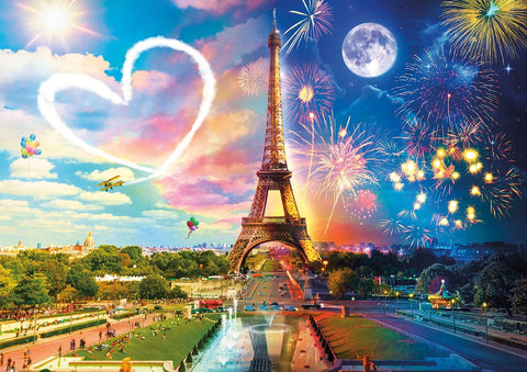 Buffalo Night & Day Paris Love 300 Large Piece Jigsaw Puzzle-2