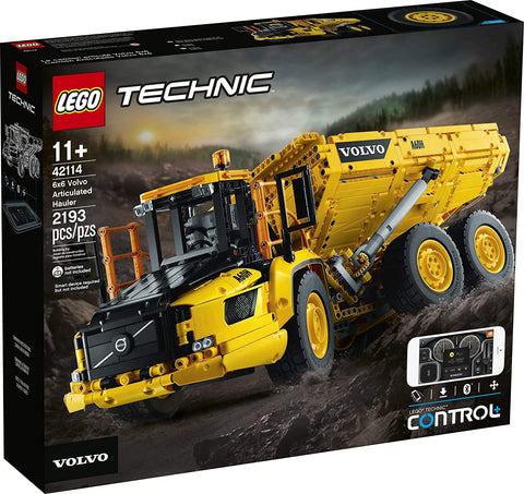 LEGO Technic 6x6 Volvo Articulated Hauler (42114) Building Kit, Volvo Truck Toy Model for Kids Who Love Construction Vehicle Playsets, New 2020 (2,193 Pieces) brickskw bricks kw q8 kuwait onilne store bricksq8