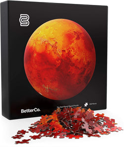 BetterCo. The Red Planet Mars Round Puzzle 500 Pieces