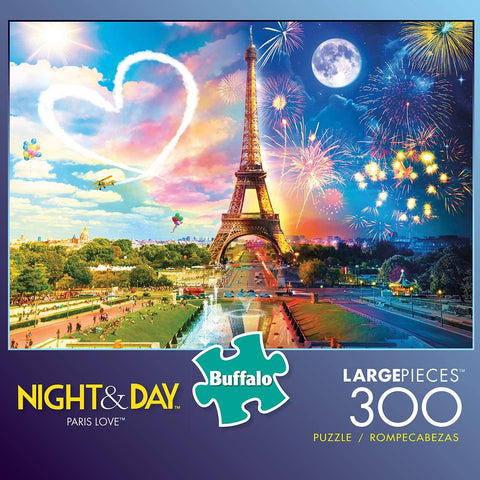 Buffalo Night & Day Paris Love 300 Large Piece Jigsaw Puzzle-4