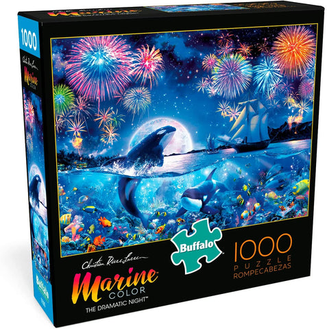 Buffalo Games - Marine Color - The Dramatic Night - 1000 Piece Jigsaw Puzzle brickskw bricks kw kuwait online lego store