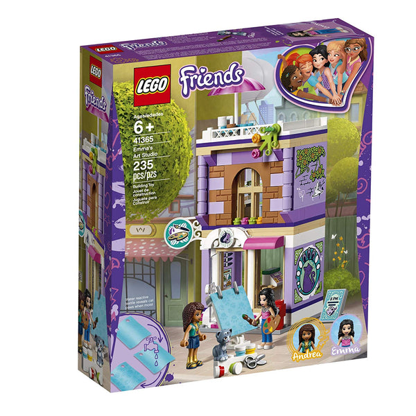 LEGO Friends Emma's Art Studio 41365 Building Kit , New 2019 brickskw bricks kw kuwait online