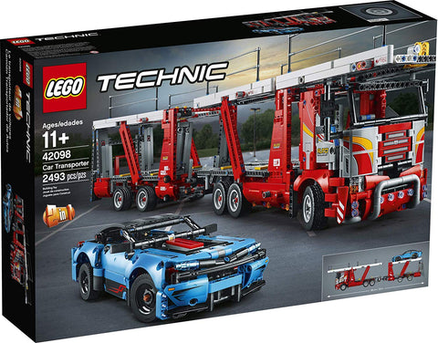 LEGO Technic Car Transporter 42098 Toy Truck and Trailer Building Set with Blue Car, Best Engineering and STEM Toy for Boys and Girls, New 2019 brickskw bricks kw kuwait online store shop