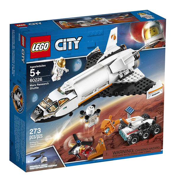 LEGO City Space Mars Research Shuttle 60226 Space Shuttle Toy Building Kit with Mars Rover and Astronaut Minifigures, Top STEM Toy for Boys and Girls, New 2019 brickskw bricks kw kuwait online store shop