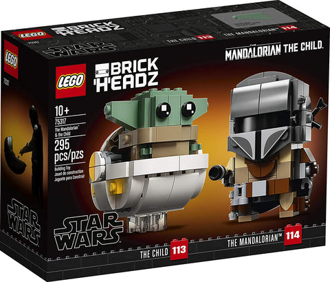 LEGO BrickHeadz Star Wars The Mandalorian & The Child 75317 Building Kit, Toy for Kids and Any Star Wars Fan Featuring Buildable The Mandalorian and The Child Figures, New 2020 (295 Pieces) brickskw bricks kw q8 kuwait online store puzzle lego toys play baby kids adult تركيب ليقو ليجو ذكاء مهارات العاب محل
