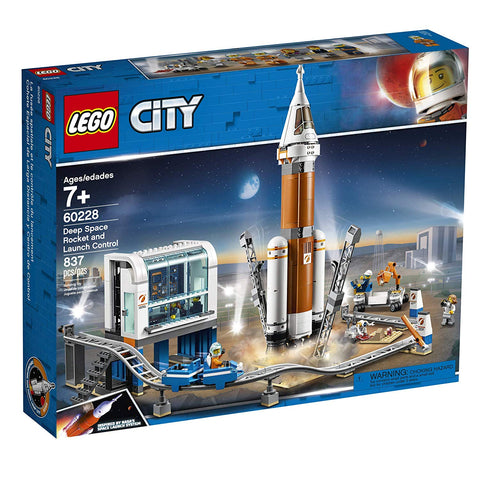 LEGO City Space Deep Space Rocket and Launch Control 60228 Model Rocket Building Kit with Toy Monorail, Control Tower and Astronaut Minifigures, Fun STEM Toy for Creative Play, New 2019 brickskw bricks kw kuwait online store shop