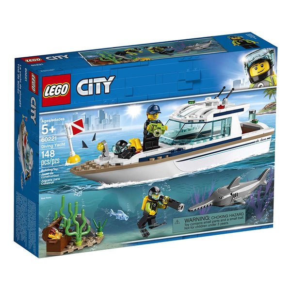 LEGO City Great Vehicles Diving Yacht 60221 Building Kit , New 2019 brickskw bricks kw kuwait online