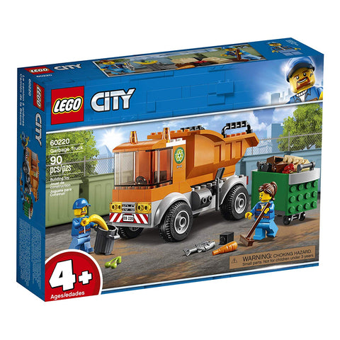 LEGO City Great Vehicles Garbage Truck 60220 Building Kit , New 2019 brickskw bricks kw kuwait online