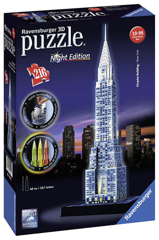 Ravensburger Chrysler Building 3D Puzzle Night Edition 125951-1