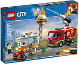 LEGO City Burger Bar Fire Rescue 60214 Building Kit (327 Pieces) brickskw bricks kw kuwait online store