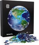 BetterCo. Planet Earth Round Puzzle 500 Pieces brickskw bricks kw kuwait lego online store