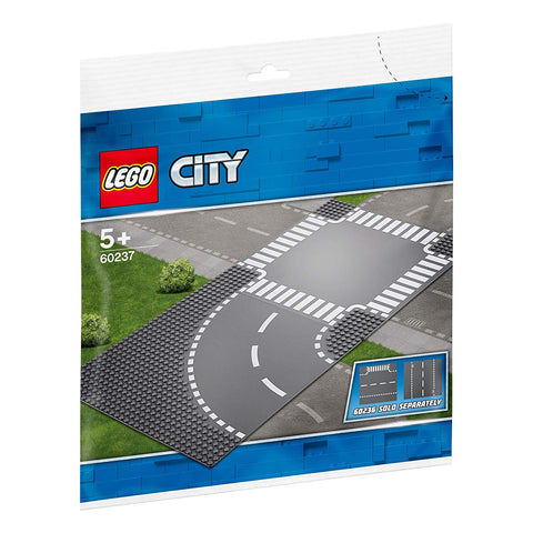 LEGO City Curve and Crossroad 60237 Building Kit , New 2019 brickskw bricks kw kuwait online