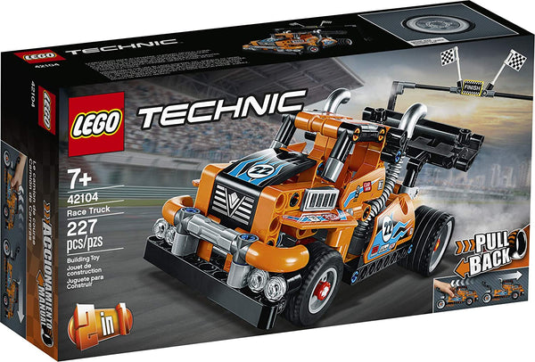 LEGO Technic Race Truck 42104 Pull-Back Model Truck Building Kit, New 2020 (227 Pieces) bricks kw kuwait online store puzzle