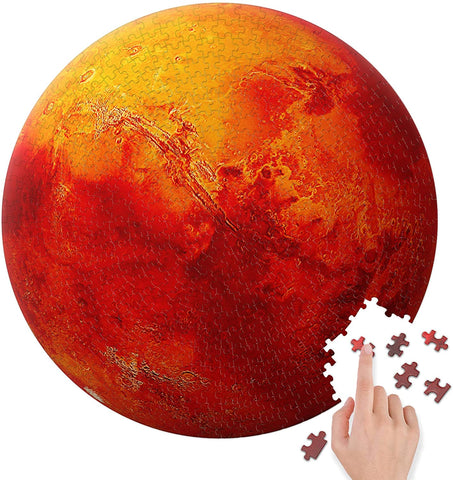 BetterCo. The Red Planet Mars Round Puzzle 500 Pieces-2