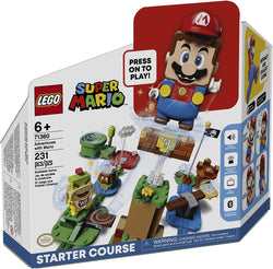LEGO Super Mario Adventures with Mario Starter Course 71360 Building Kit, Interactive Set Featuring Mario, Bowser Jr. and Goomba Figures, New 2020 (231 Pieces) brickskw bricks kw q8 kuwait online store shop website delivery puzzle lego toys play baby kids adult buy avenues jigsaw  الكويت تركيب ليغو ليقو ليجو ذكاء مهارات العاب محل