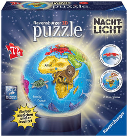 Ravensburger Kids Earth Puzzle 3D-Night Light 121427 brickskw bricks kw kuwait online