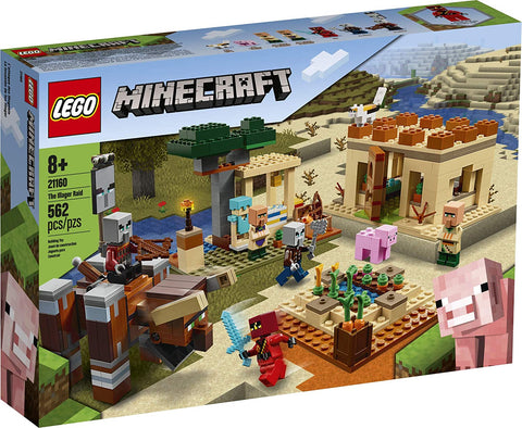 LEGO Minecraft The Illager Raid 21160 Building Toy Action Playset for Boys and Girls Who Love Minecraft, New 2020 (562 Pieces) brickskw bricks kw q8 kuwait onilne store bricksq8