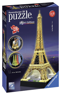 Ravensburger Eiffel Tower - Night Edition - 3D Puzzle 125791 brickskw online kuwait