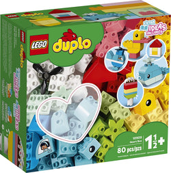 LEGO DUPLO Classic Heart Box 10909 First Building Playset and Learning Toy for Toddlers, Great Preschooler's Developmental Toy, New 2020 (80 Pieces) brickskw bricks kw q8 kuwait onilne store bricksq8