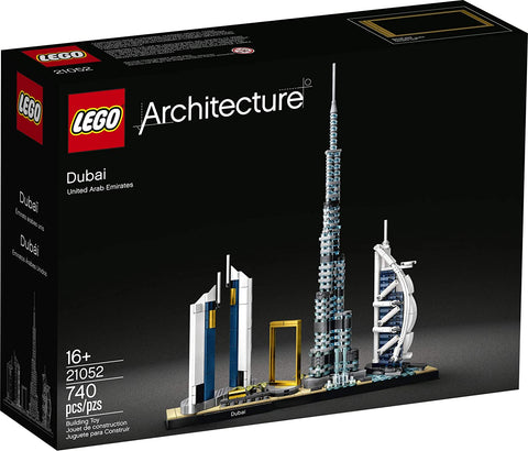 LEGO Architecture Skylines: Dubai 21052 Building Kit, Collectible Architecture Building Set for Adults, New 2020 (740 Pieces) brickskw bricks kw kuwait online store