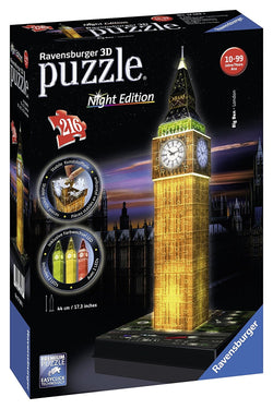 Ravensburger Big Ben - Night Edition - 3D Puzzle 125883 brickskw bricks kw kuwait online