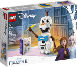LEGO Disney Frozen II Olaf 41169 Olaf Snowman Toy Figure Building Kit Christmas Gift, New 2019 brickskw bricks kw kuwait online store