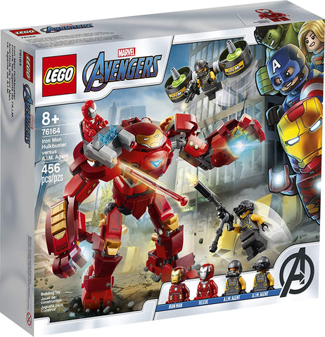 LEGO Marvel Avengers Iron Man Hulkbuster Versus A.I.M. Agent 76164, Cool, Interactive, Brick-Build Avengers Playset with Minifigures, New 2020 (456 Pieces) brickskw bricks kw q8 kuwait online store shop website delivery puzzle lego toys play baby kids adult buy avenues jigsaw  الكويت تركيب ليغو ليقو ليجو ذكاء مهارات العاب محل