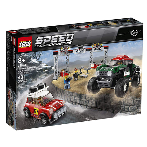 LEGO Speed Champions 1967 Mini Cooper S Rally and 2018 Mini John Cooper Works Buggy 75894 Building Kit , New 2019 brickskw bricks kw kuwait online
