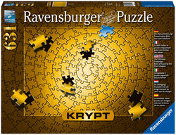 Ravensburger Krypt Puzzle Gold 631 Piece Jigsaw Puzzle for Adults – Every Piece is Unique, Softclick Technology Means Pieces Fit Together Perfectly