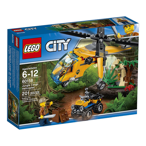 LEGO City Jungle Explorers Jungle Cargo Helicopter 60158 brickskw bricks kw online kuwait
