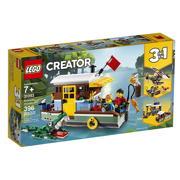 LEGO Creator 3in1 Riverside Houseboat 31093 Building Kit , New 2019 brickskw bricks kw kuwait online