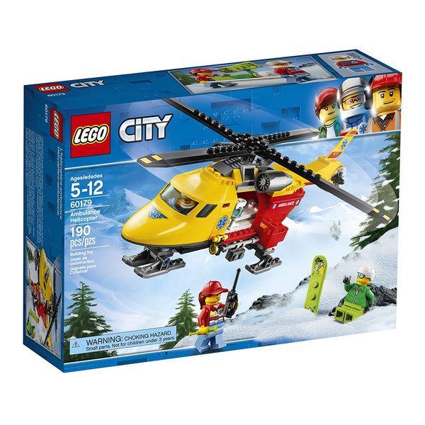 LEGO City Great Vehicles Ambulance Helicopter 60179 brickskw bricks kw kuwait online