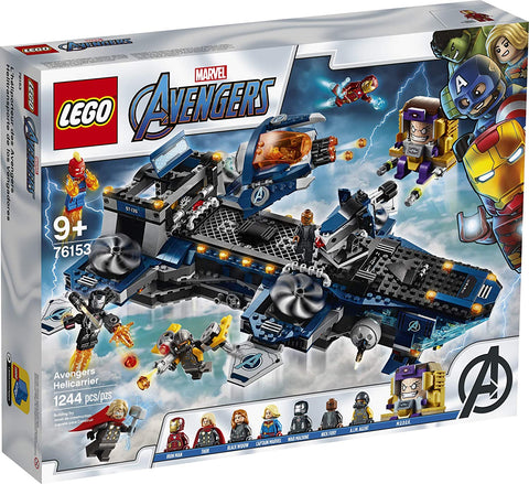 LEGO Marvel Avengers Helicarrier 76153 Fun Brick Building Toy with Marvel Avengers Action Minifigures, Great Gift for Kids Who Love Airplanes and Superhero Adventures, New 2020 (1,244 Pieces) brickskw bricks kw q8 kuwait onilne store bricksq8