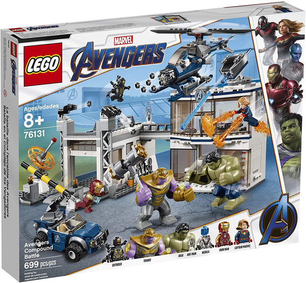 LEGO Marvel Avengers Compound Battle 76131 Building Set includes Toy Car, Helicopter, and popular Avengers Characters Iron Man, Thanos and more (699 Pieces) brickskw bricks kw kuwait online store
