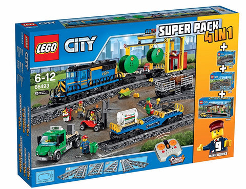 LEGO City Cargo Train Superpack 4in1 66493 - brickskw bricks kuwait