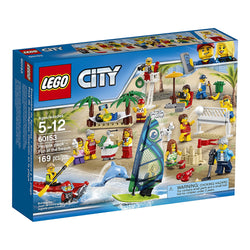 LEGO City Town People Pack – Fun At the Beach 60153 brickskw bricks kw kuwait