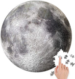 BetterCo. Full Moon Round Puzzle 500 Pieces Difficult Jigsaw Puzzles