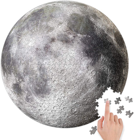 BetterCo. Full Moon Round Puzzle 500 Pieces Difficult Jigsaw Puzzles-2