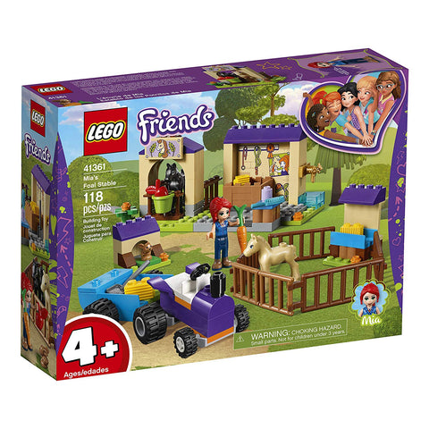 LEGO Friends 4+ Mia's Foal Stable 41361 Building Kit , New 2019 brickskw bricks kw kuwait online