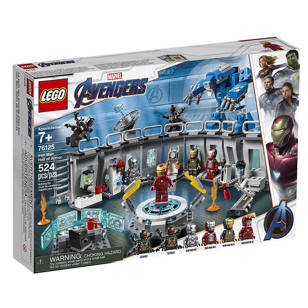 LEGO Marvel Avengers Iron Man Hall of Armor 76125 Building Kit - Marvel Tony Stark Iron Man Suit Action Figures brickskw bricks kw kuwait online store
