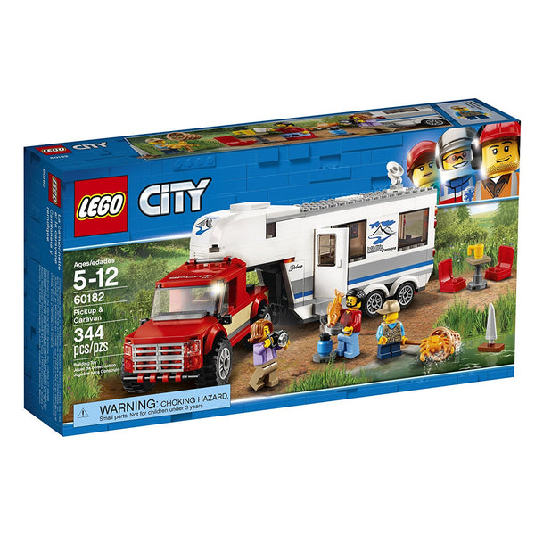 LEGO City Great Vehicles Pickup & Caravan 60182 brickskw bricks kw kuwait online